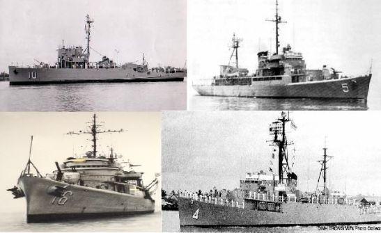 01- Bốn chiến hạm của VNCH tham dự hải chiến Hoàng sa 1974